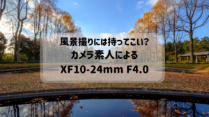 富士フイルムXF10-24mm R OISの出番増。良い点といまいちな点。